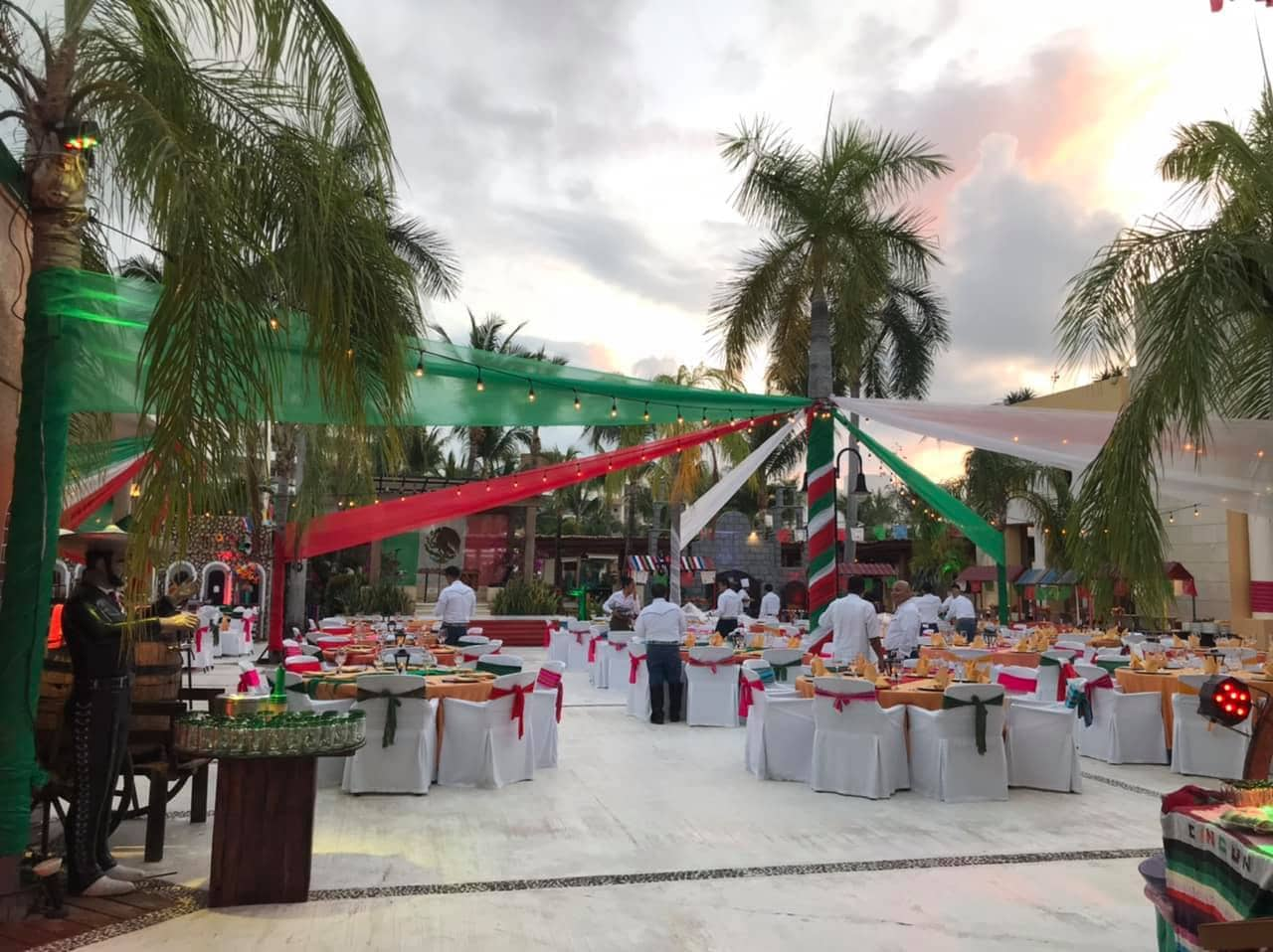 Setup for Mexican night