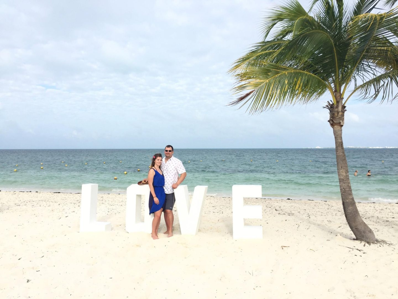 Love sign on the beach
