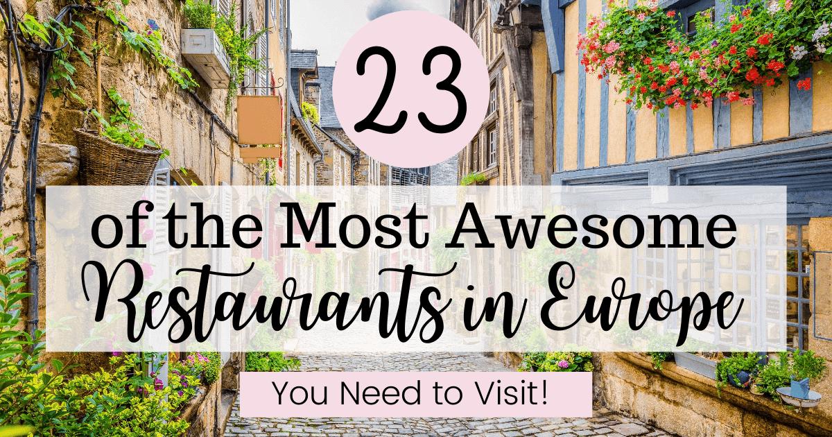 Best Restaurants in Europe