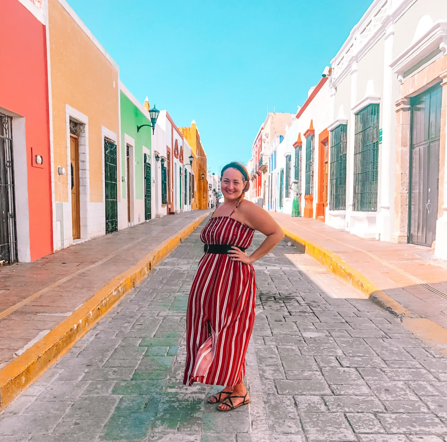 Streets of Campeche Mexico