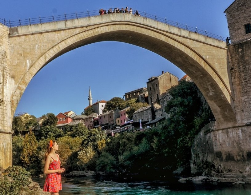 Bridge view in Mostar
