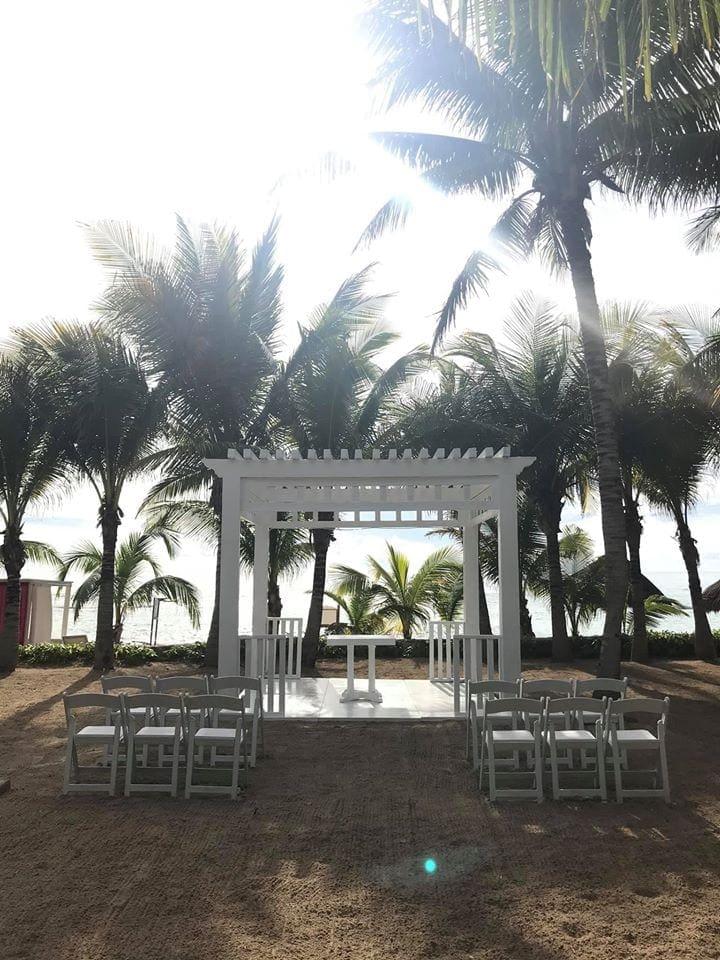Beach setup El Dorado Royale wedding
