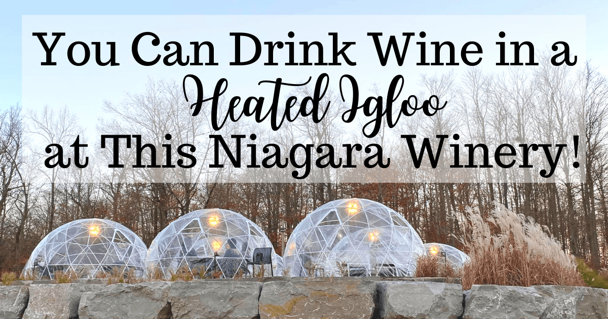 You Can Drink Wine in a Heated Igloo at This Niagara Winery