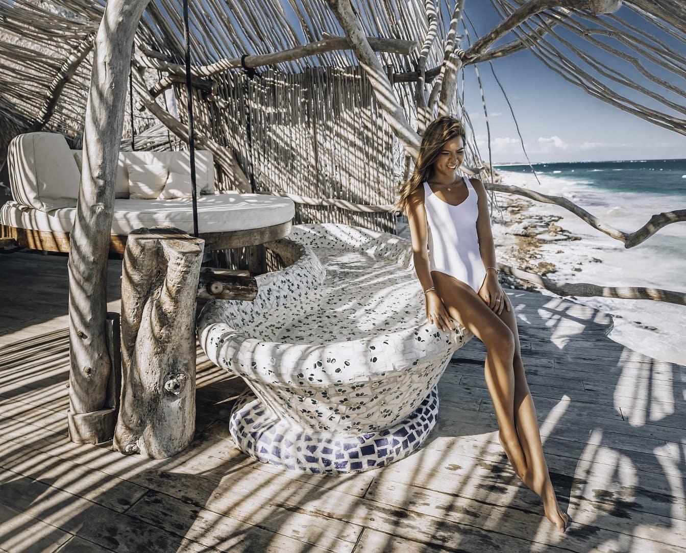 Azulik Tulum on the beach