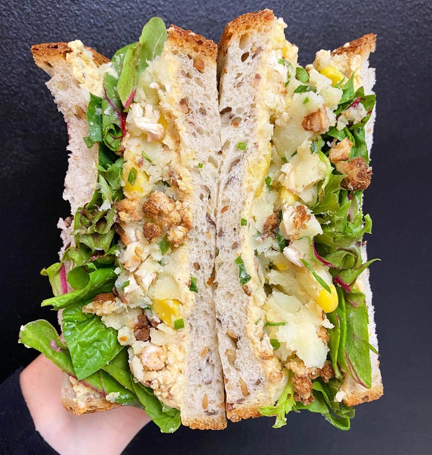 270 Bench Kitchen vegan sandwich with potato and cauliflower